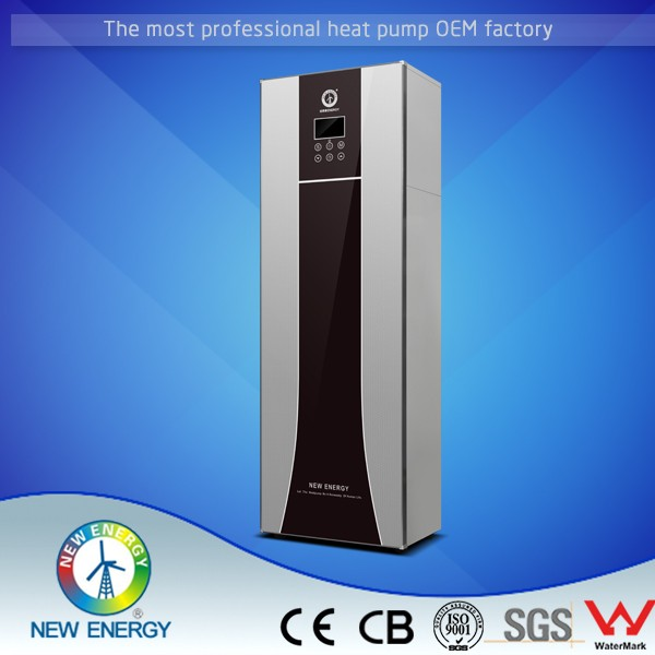 Energy efficiency dual tanks touch screen controller all in one heat pump