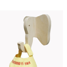 Manufacturer Plywood Single Animal Wall Hook for Kids