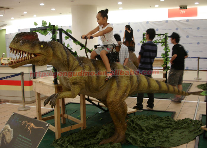 High emulation dinosaur ride for indoor games for kids