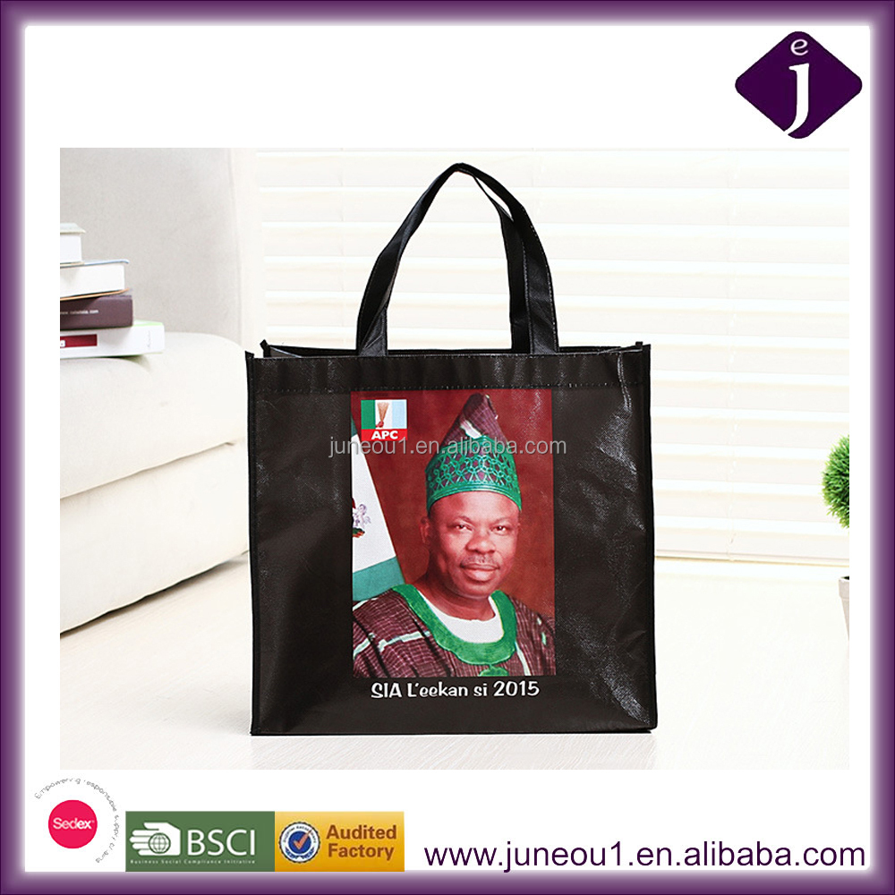 Custom Made Photo Printing Non Woven Laminated Bags Colorful Foldable Shopping Tote Bags