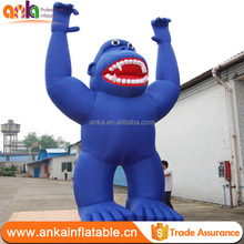 Hottest sale display inflatable blue gorilla
