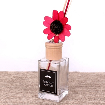 110ml 150ml square perfume fragrance aroma reed diffuser glass bottle