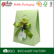 Promotional bowknot paper gift bags without handles wholesale