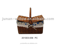 insulated picnic basket for two for sale