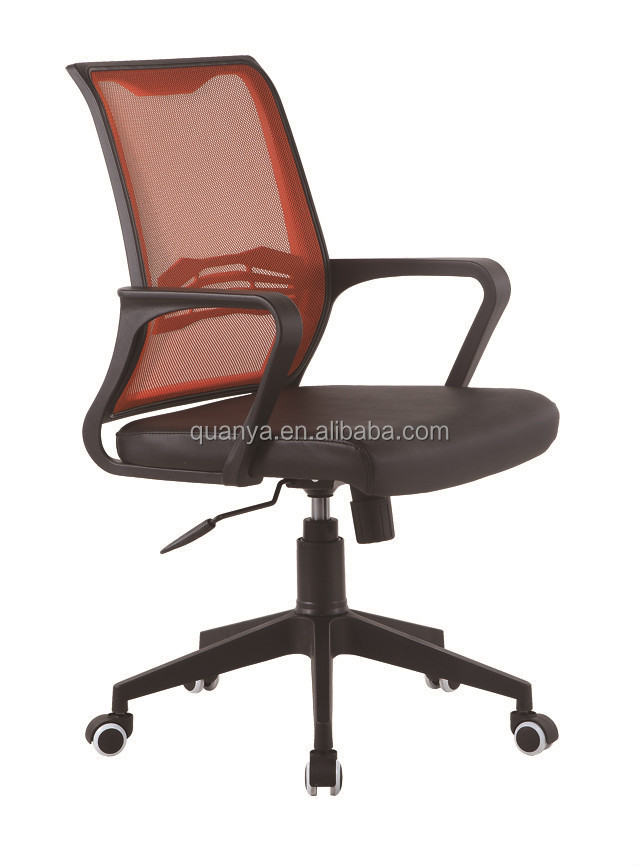 fashionable orange mesh office chairs, mid back office chairs with cushion