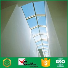 CE certificate large fixed tempered glass window