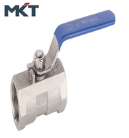 China Manufacturer One-PC 1000WOG Stainless Steel Female Thread Ball Valve