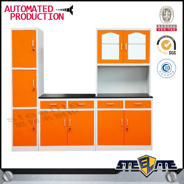 Cheap stainless steel kitchen pantry cabinets/aluminium kitchen cabinet/kitchen cabinets china