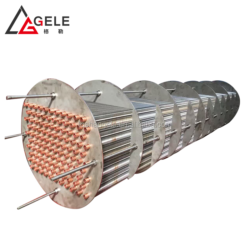 Stainless steel crimped fins air dryer heat exchanger for drying coating products or painting products