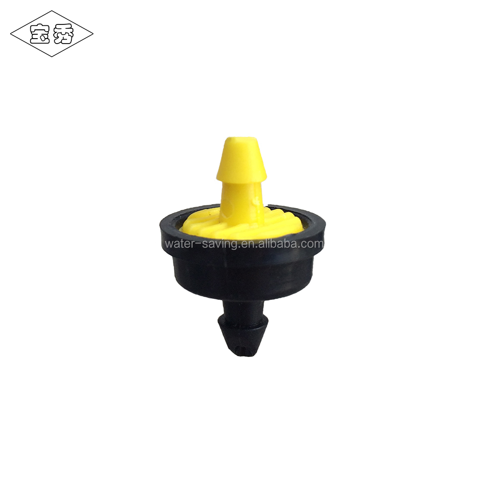 Plastic PC dripper water flow regulator for drip irrigation system