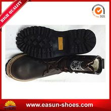 Steel toe safety logger boots ladies office safety logger boots goodyear welt logger safety footwear