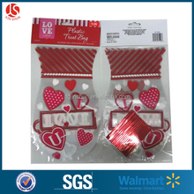 Plastic cute Valentine's Day gift bag packaging / candy bag