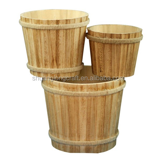 Hot Sale Wood <strong>Barrel</strong> /bucket With Stainless Steel Container