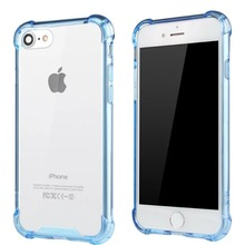 Shockproof Air Cushion TPU Bumper Acrylic Clear Case For IPhone 5 6 7 8 X