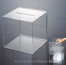 Tabletop Acrylic Lucky Draw Box,Transparent Plexiglass Sweepstake Box,Transparent Lottery Display Box