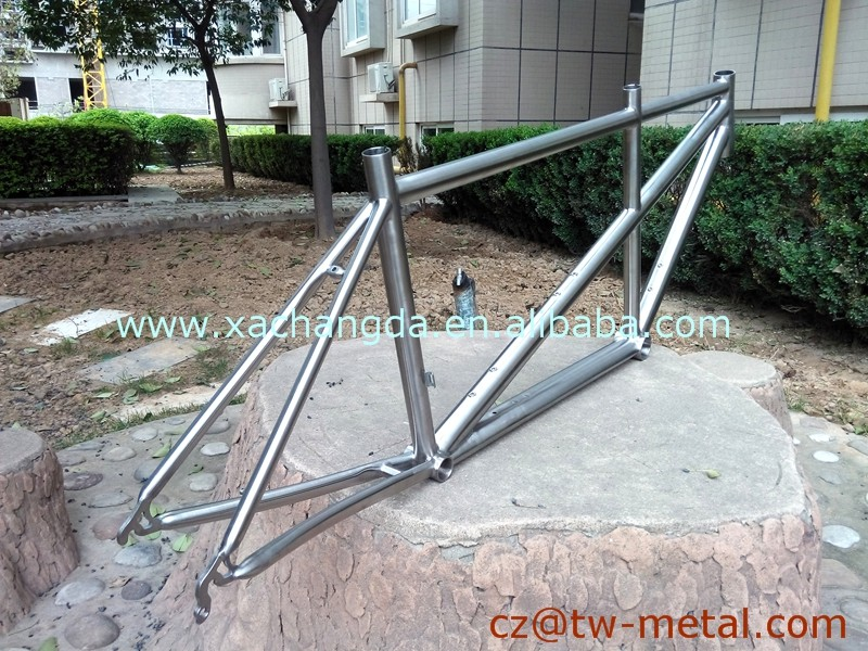 Titanium tandem bicycle frame Ti road tandem bike frame cyclocross bike frame with taper head tube