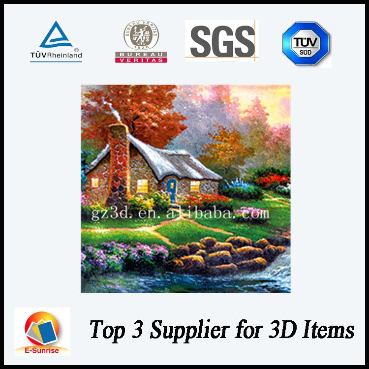 Decoration 3d lenticular picture 3d poster with beautiful flowers