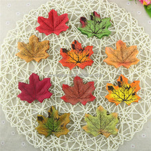 50Pcs/bag Artifical Maple Leaves Fake Autumn Fall Leaf Wedding Party Decoration Craft Art Home Bedroom Wall Book Decor