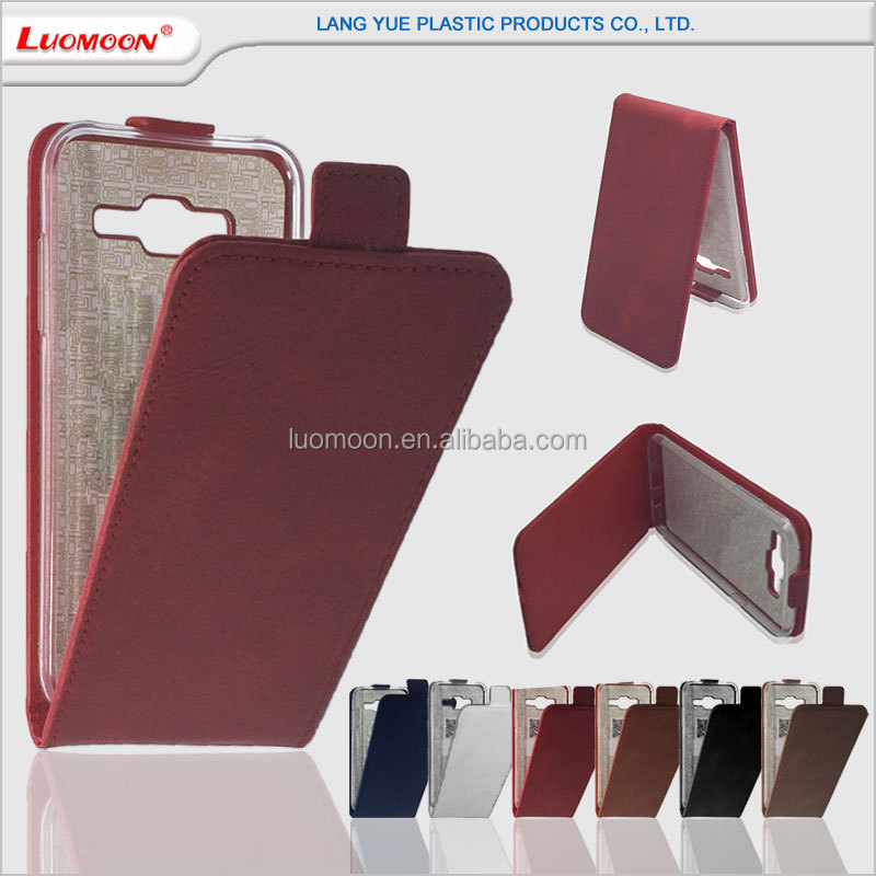 Shockproof vertical flip down leather case for iphone 4 4s 5 5s 5c 5se 6 6s 6c plus se