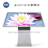 49 inch interactive advertising kiosk touch screen information kiosk