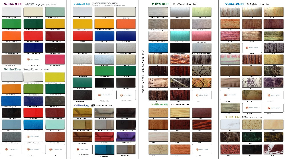 solid color and stone texture acp color chart alucobond. Black Bedroom Furniture Sets. Home Design Ideas