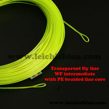 Special with PE braided core transparent WF intermediate best fly line