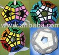 Holey Megaminx with tiles/stickers black body