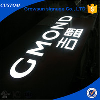 window displayed led frontlit channel letter sign