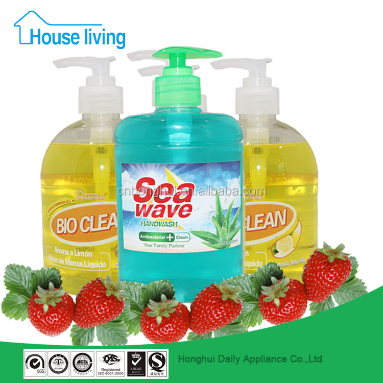 Brand names of hand wash wholesale antiseptic liquid/chemical formula of hand wash liquid soap 500ml