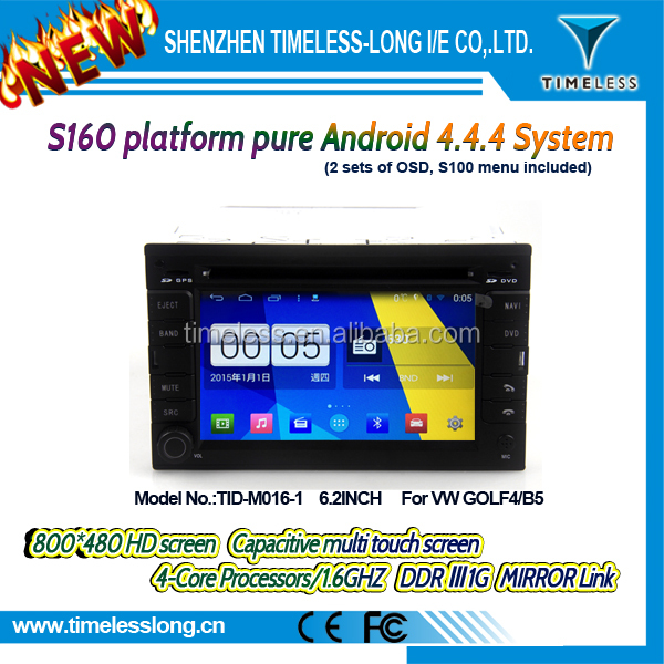 S160 Android 4.4.4 car dvd for VW GOLF4/B5 with Capacitive screen Built in Wifi DDRIII 1G FLASH 16G GPS BT Radio