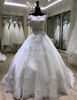 sweep train ball gown lace bridal dress cheap wedding dresses