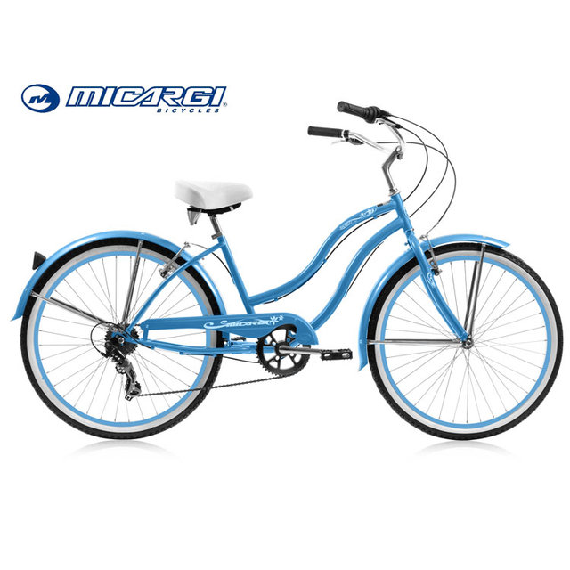 Micargi 24 inch 7 speed chopper bike TAHITI beach cruiser lady bicycle