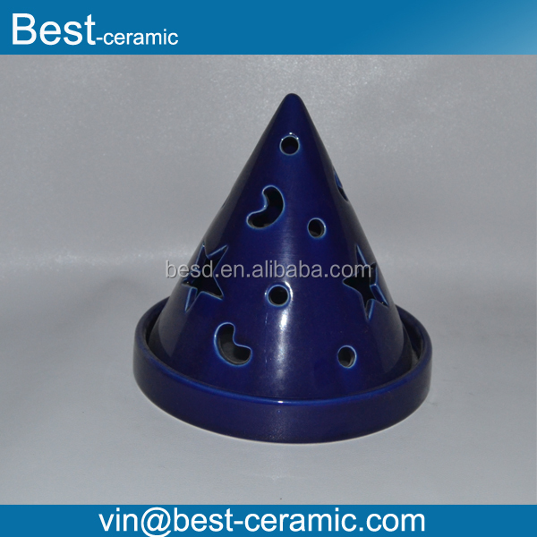 blue tree shape antique ceramic Mosquito Coil Holder