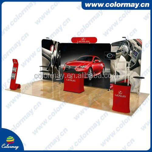 Exhibition Wall Trade Show Display Systems , Tension Fabric Trade Show Display