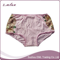 Rubber print elegant beautiful organic rubber print panties for women