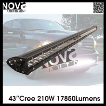 straight 210w creechips 4x4 offroad wholesale led light bars off road