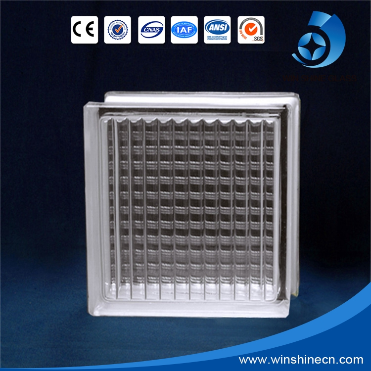 Manufacturer building hollow crystal clear glass block with CE&ISO9001 certificate