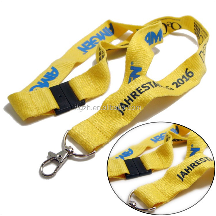 Silk-screen printed custom logo friendly bamboo neck lanyards
