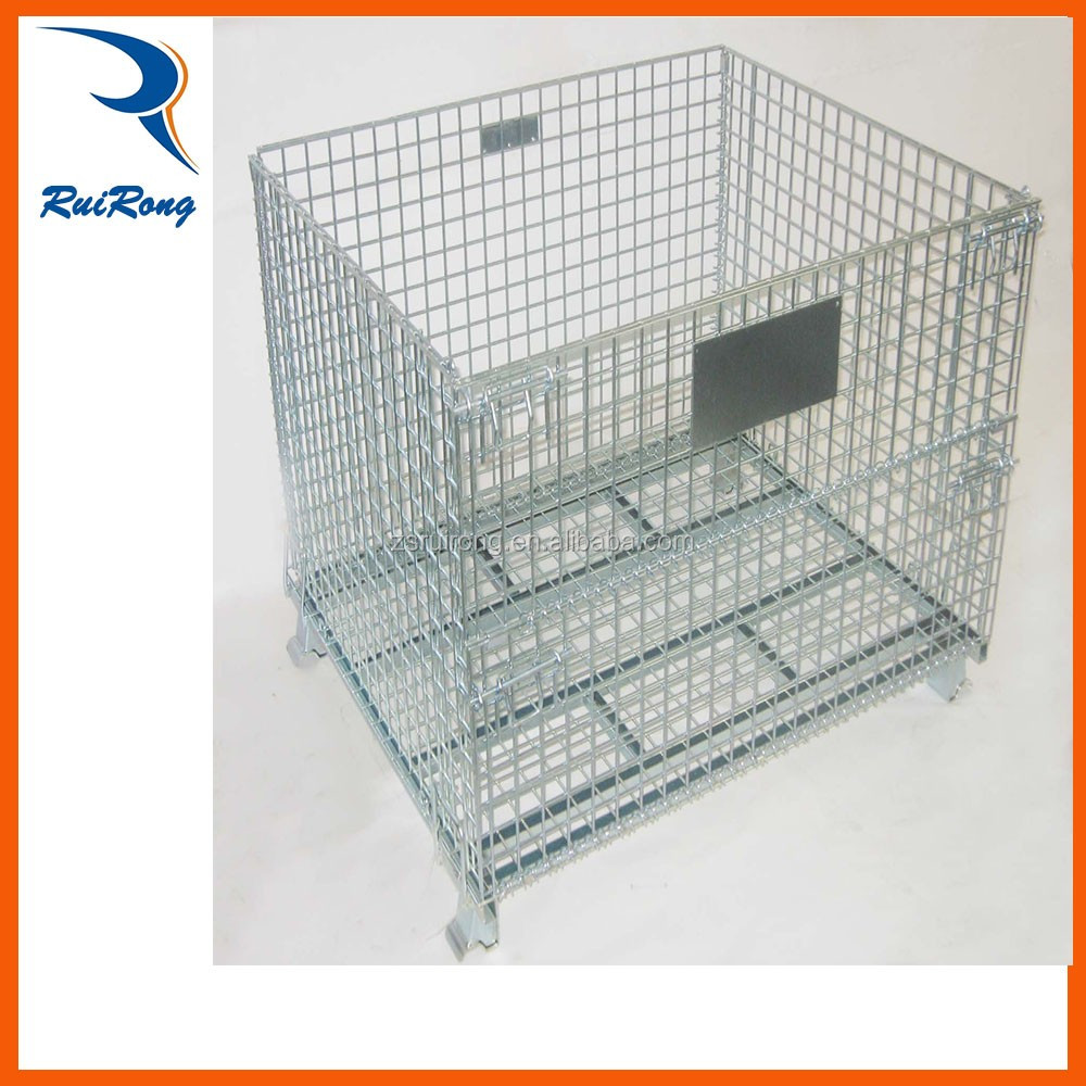 ruirong Storage Heavy Duty Stacking Wire Mesh Cage