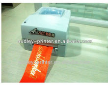 Audley fabric ribbon printer,hot foil ribbon printing machine ADL-S108