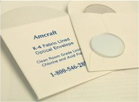 Protective packaging for optics fabric lined optical gusset envelope