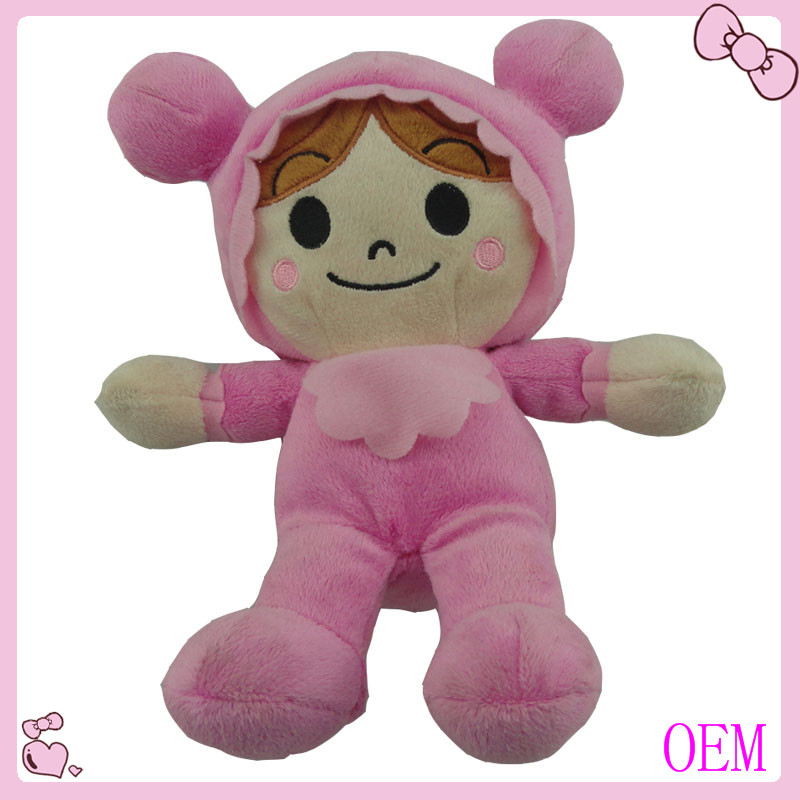 Funny soft stuffed plush mini real doll