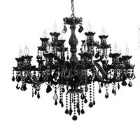 Chinese Top Quality K9 Black Crystal Chandelier, Murano Glass Chandelier, Luxury Black Crystal Ceiling Lamp Hotel Lighting
