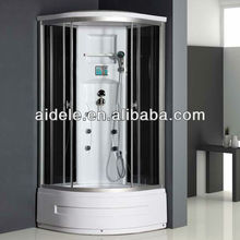 Three massage jets comfortable shower cabin with glass shelf