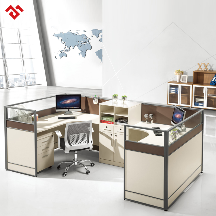modern and practical office use wooden 4-people office pictures of office furniture partitions