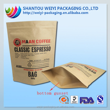 Custom waterproof food wrapping brown kraft paper bag manufacturer
