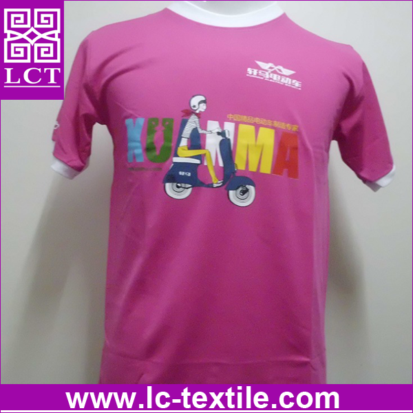 wholesale custom design print high quality grade dri fit soft cotton pink casual leisure superman tshirt for promotion(LCTT0384)