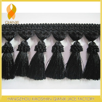 CHINA HOME DECOR WOLESALE BLACK TASSEL FRINGE