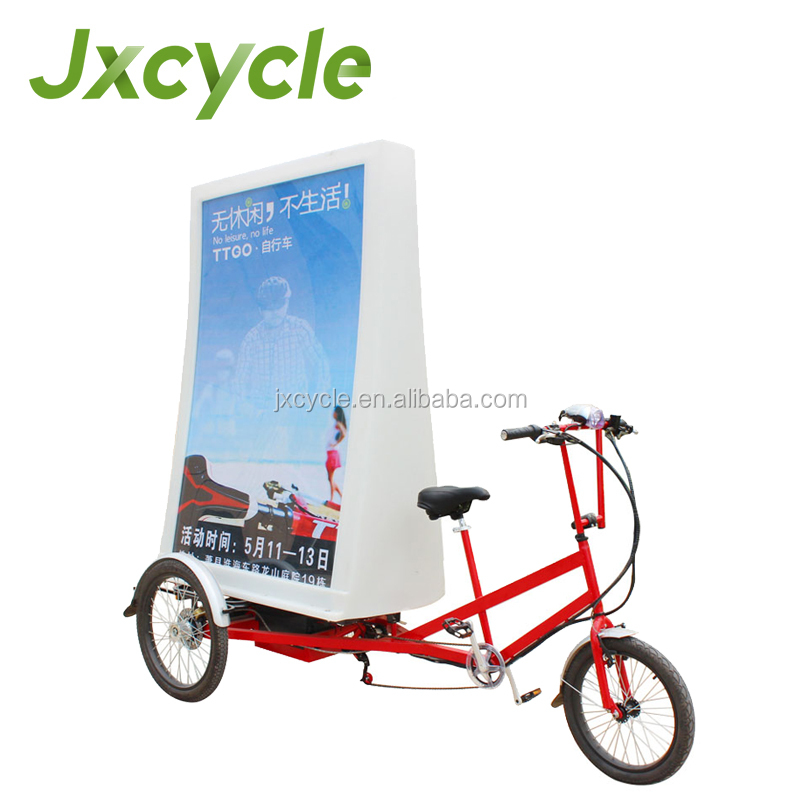 outdoor 3 wheels LED advertising trike