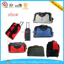 2015 new arrival 600D polyester black red grey colors trolley travel laptop bag